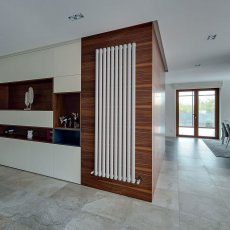 EcoRad Oval Tube Single Vertical Radiator 1820mm High x 480mm Wide 8 Sections White