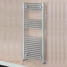 EcoRad Solace Straight Ladder Towel Rail, 800mm H x 400mm W, Chrome