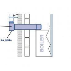 Firebird Plume Dispersal Balanced Flue Starter Kit (125mm Diameter)