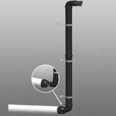 Firebird Plas-Fit Plume 45 Degree Elbow (80mm Diameter)