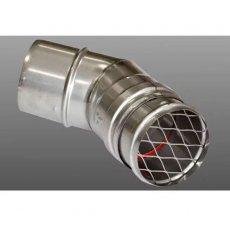 Firebird Terminal Insert with 45 Degree Flue Bend (80mm Diameter)