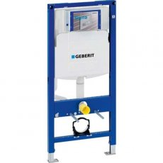 Geberit Duofix 1120mm H WC Toilet Frame with Sigma Cistern - Blue