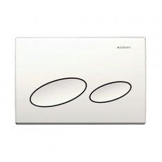 Geberit Kappa20 Dual Flush Plate - White