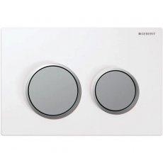 Geberit Kappa21 Dual Flush Plate - White/Matt Chrome Plated