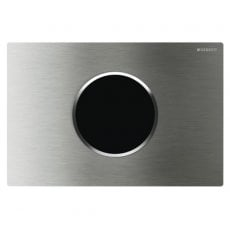 Geberit Sigma10 Battery-Operated Touchless Anti-Vandal Dual Flush Plate - Brushed Steel