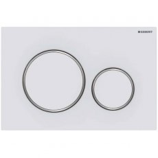 Geberit Sigma20 Dual Flush Plate - Matt White
