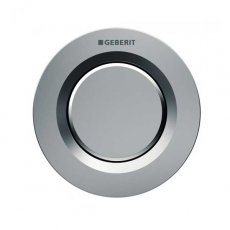 Geberit Type 01 Single Flush Plate Button for 120mm and 150mm Concealed Cistern - Gloss Chrome