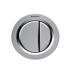 Geberit Type 01 Dual Flush Plate Button for 80mm Concealed Cistern - Matt Chrome