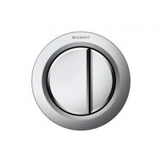 Geberit Type 01 Pneumatic Dual Flush Plate Button for Concealed Cistern - Matt Chrome