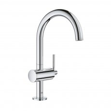 Grohe Atrio L-Size Basin Mixer Tap and Push-Open Waste - Chrome