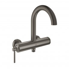 Grohe Atrio Bath Shower Mixer Tap with Single Lever Handle - Brushed Hard Graphite