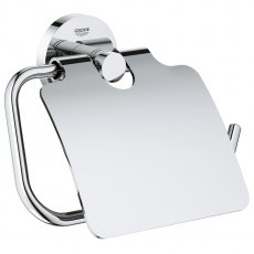 Grohe Essentials Toilet Roll Holder with Cover - Chrome