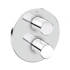 Grohe Grohtherm 3000 Cosmo Concealed Shower Valve & Diverter Trim Dual Handle - Chrome