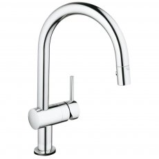 Grohe Minta Touch Electronic Kitchen Sink Mixer Tap with Pull-out and Swivel Spout - Chrome