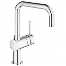 Grohe Minta 1/2 inch Kitchen Sink Mixer Tap Swivel U Spout - Chrome