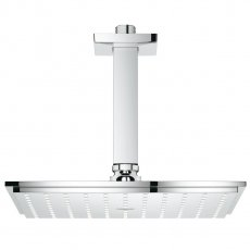 Grohe Rainshower Allure Shower Head with Ceiling Arm - Chrome