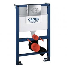 Grohe Rapid SL 3-in-1 WC Toilet Frame, Skate Flushplate, Cistern and Fixings, 820mm High