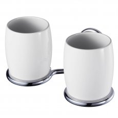 Haceka Allure Double Glass Holder, Chrome