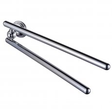 Haceka Allure Adjustable Towel Rail, 434mm Wide, Chrome