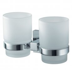 Haceka Mezzo Double Glass Holder, Chrome