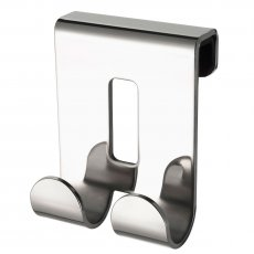 Haceka Selection Double Short Robe Hook, Polished Silver