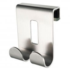 Haceka Selection Double Short Robe Hook, Stainless Steel