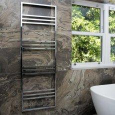 Heatwave Boxford Designer Heated Towel Rail 800mm H x 500mm W - Chrome