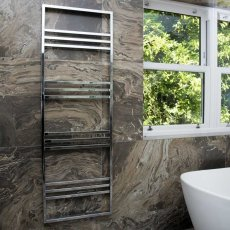 Heatwave Boxford Designer Heated Towel Rail 1200mm H x 500mm W - Chrome