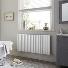 Heatwave Dorney Double Horizontal Radiator 600mm H x 592mm W - White