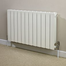 Heatwave Hanworth Horizontal Designer Aluminium Radiator 690mm H x 668mm W - 8 Sections