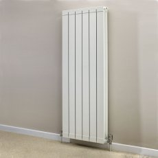 Heatwave Hanworth Vertical Designer Aluminium Radiator 1446mm H x 428mm W - 5 Sections