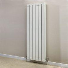 Heatwave Hanworth Vertical Designer Aluminium Radiator 1446mm H x 508mm W - 6 Sections