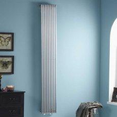 Heatwave Iridio Vertical Designer Radiator 1800mm H x 500mm W - Chrome