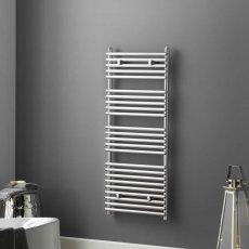 Heatwave Iridio Designer Heated Towel Rail 1200mm H x 500mm W - Chrome