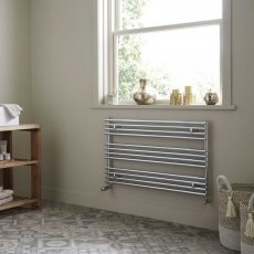 Heatwave Iridio Horizontal Heated Towel Rail 600mm H x 1000mm W - Chrome