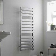 Heatwave Perlo Flat Panel Heated Towel Rail 1200mm H x 500mm W - Chrome