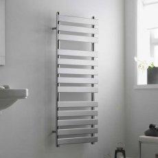 Heatwave Perlo Flat Panel Heated Towel Rail 1200mm H x 500mm W - White