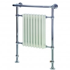 Heatwave Portchester Radiator Towel Rail 945mm H x 640mm W - Chrome & White