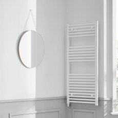 Heatwave Richmond Electric Straight Towel Rail 691mm H x 450mm W - White