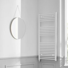 Heatwave Richmond Electric Straight Towel Rail 1186mm H x 450mm W - White