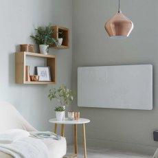 Heatwave Vetro Frame Electric Glass Horizontal Radiator 600mm H x 1200mm W - White