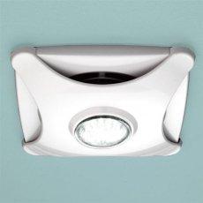 HiB Air Star Bathroom Fan Low Energy LED Illumination White 155mm H x 155mm W x 43mm D