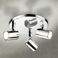 HiB Trilogy LED Spot Light Three Multi-Angled - Chrome
