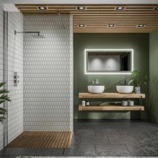HiB Element 120 LED Bathroom Mirror with Charging Frame 600mm H x 1200mm W