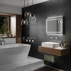 HiB Outline 80 LED Back-Lit Bathroom Mirror 600mm H x 800mm W