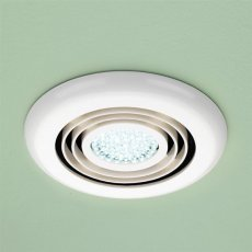 HiB Turbo Inline Bathroom Fan With Built in Cool White LED 145mm Diameter