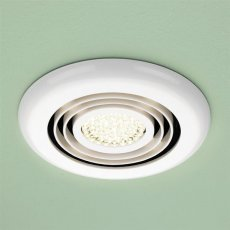 HiB Turbo Inline Bathroom Fan With Built in White Warm LED 145mm Diameter