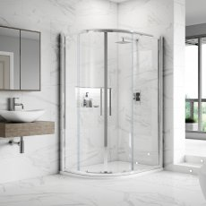 Hudson Reed Apex Offset Quadrant Shower Enclosure 900mm x 800mm with Shower Tray LH - 8mm Glass