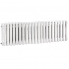 Hudson Reed Colosseum 3-Column Horizontal Radiator 300mm H x 1011mm W - White