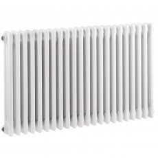 Hudson Reed Colosseum 3-Column Horizontal Radiator 600mm H x 1011mm W - White